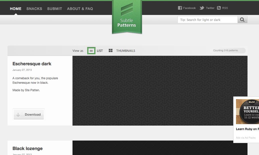 【ブクマ】商用フリーで使える、上品なシームレスパターン素材配布サイト